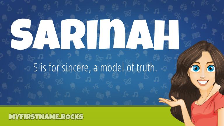 My First Name Sarinah Rocks!