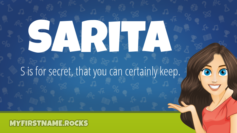 My First Name Sarita Rocks!