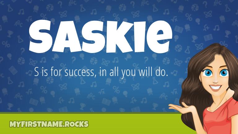 My First Name Saskie Rocks!