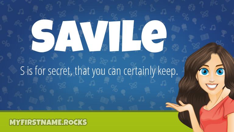 My First Name Savile Rocks!