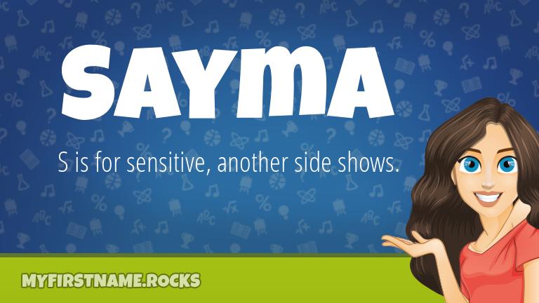 My First Name Sayma Rocks!