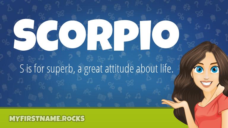 My First Name Scorpio Rocks!