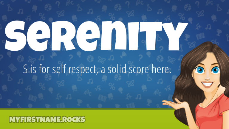 My First Name Serenity Rocks!