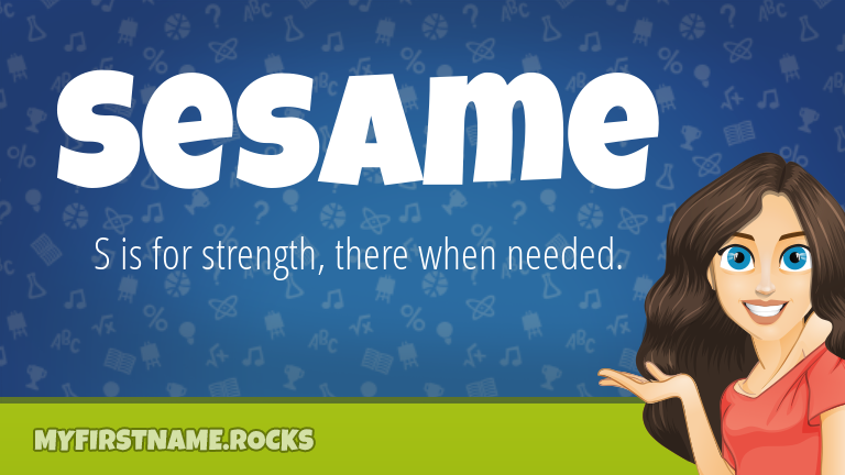 My First Name Sesame Rocks!