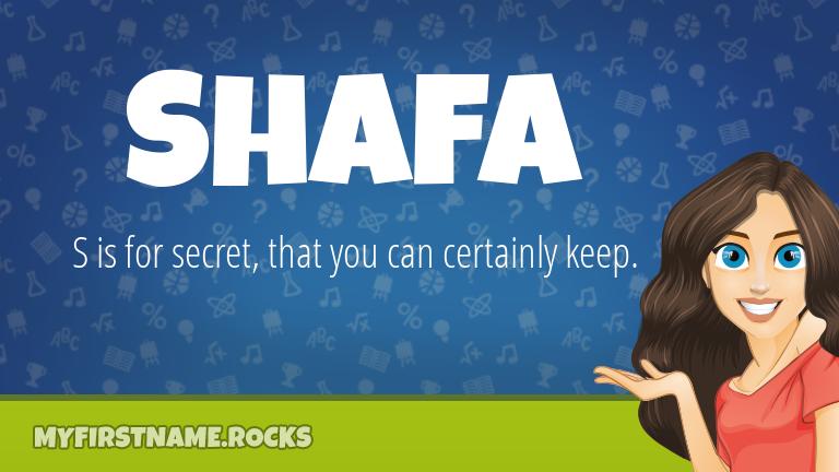 My First Name Shafa Rocks!