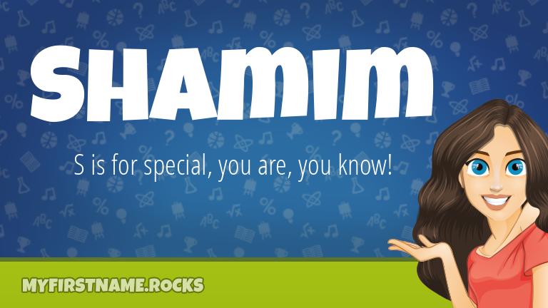 My First Name Shamim Rocks!