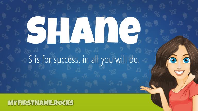 My First Name Shane Rocks!