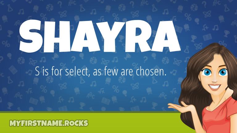 My First Name Shayra Rocks!