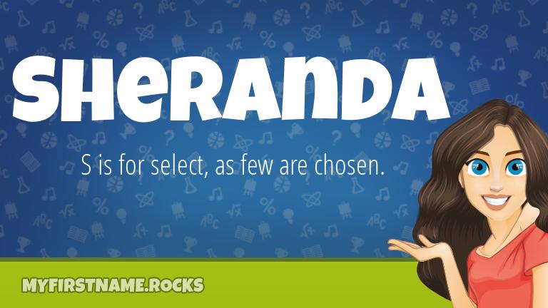 My First Name Sheranda Rocks!