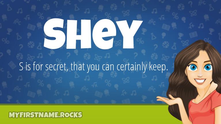 My First Name Shey Rocks!