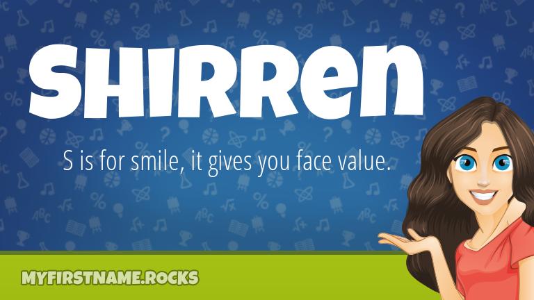 My First Name Shirren Rocks!