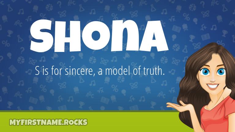 My First Name Shona Rocks!