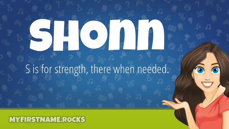 My First Name Shonn Rocks!