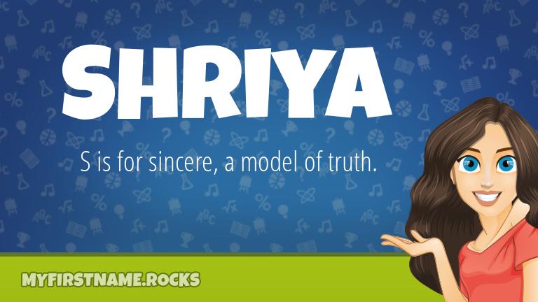 My First Name Shriya Rocks!