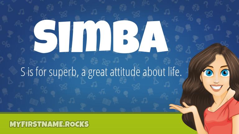 My First Name Simba Rocks!