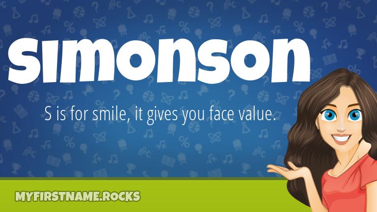 My First Name Simonson Rocks!