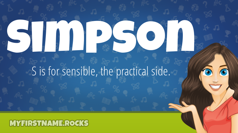 My First Name Simpson Rocks!