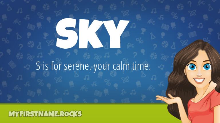 My First Name Sky Rocks!