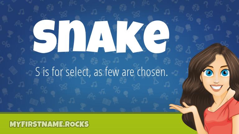 My First Name Snake Rocks!