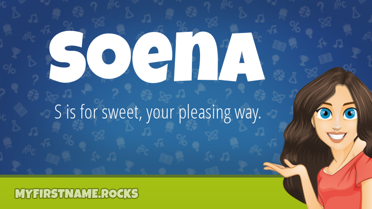 My First Name Soena Rocks!