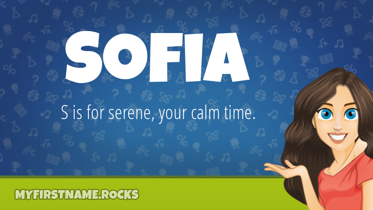 My First Name Sofia Rocks!