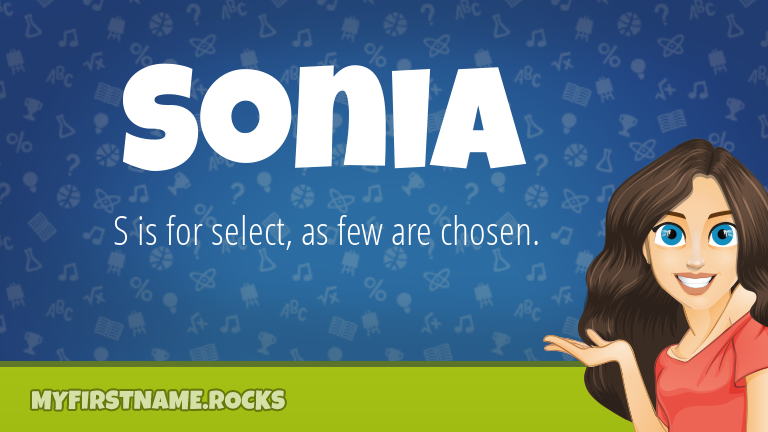 My First Name Sonia Rocks!