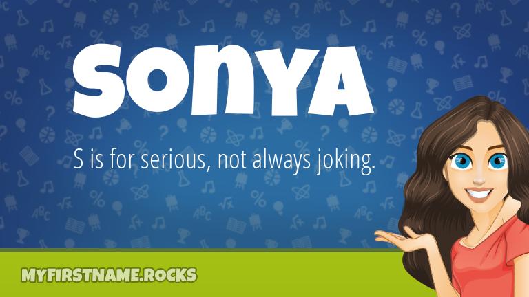 My First Name Sonya Rocks!