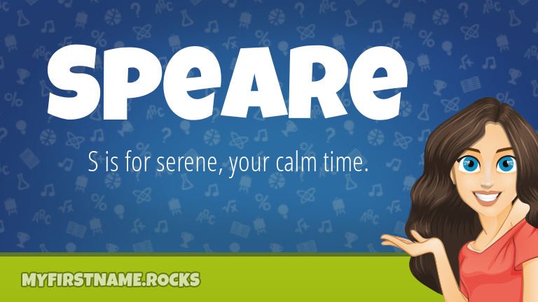 My First Name Speare Rocks!
