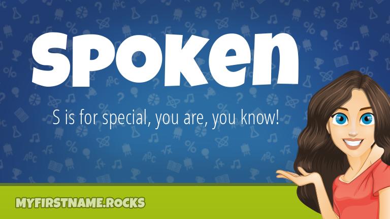 My First Name Spoken Rocks!