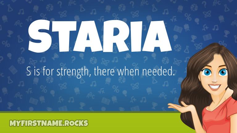 My First Name Staria Rocks!