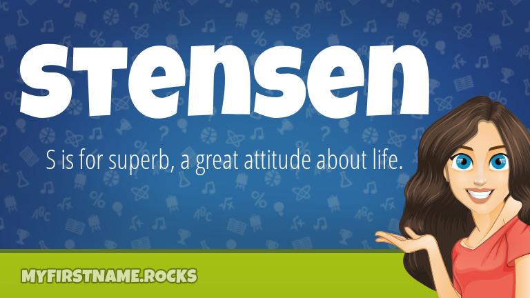 My First Name Stensen Rocks!