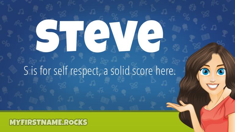 My First Name Steve Rocks!
