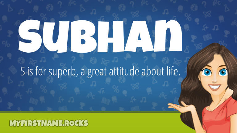 My First Name Subhan Rocks!