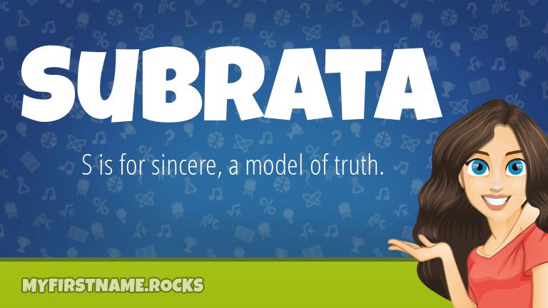 My First Name Subrata Rocks!