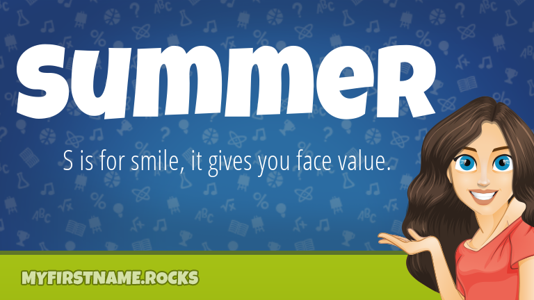 My First Name Summer Rocks!