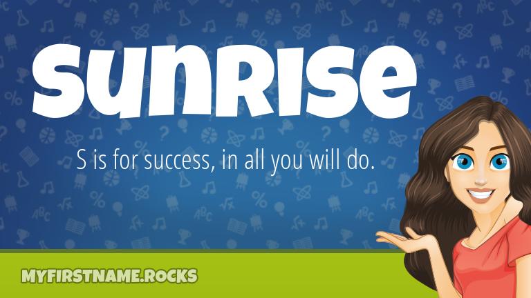 My First Name Sunrise Rocks!