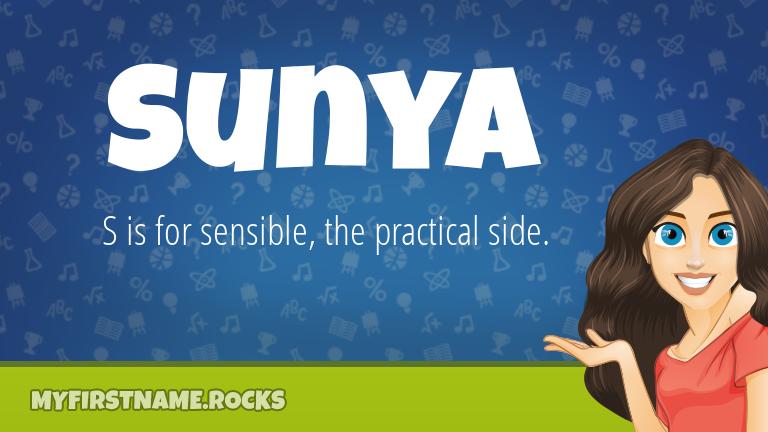 My First Name Sunya Rocks!