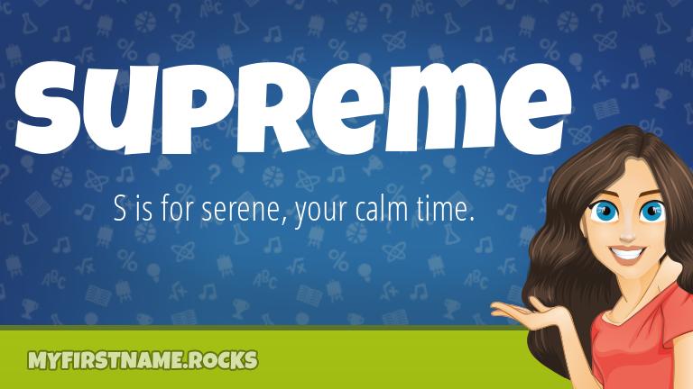 My First Name Supreme Rocks!