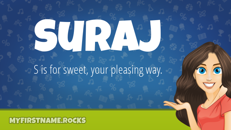 My First Name Suraj Rocks!