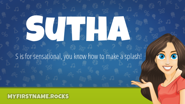 My First Name Sutha Rocks!