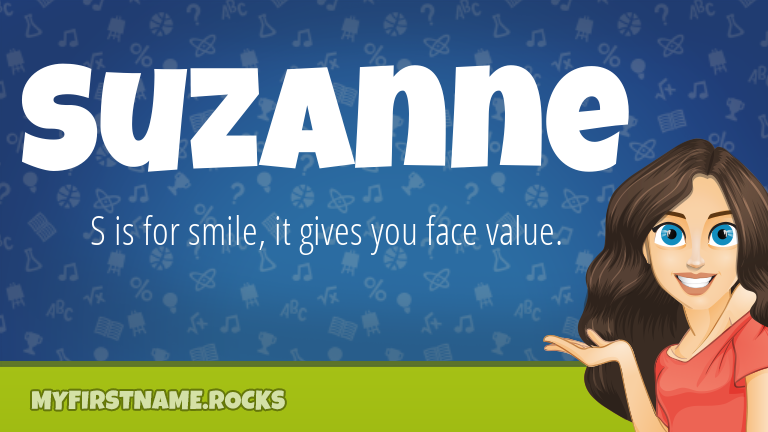 My First Name Suzanne Rocks!