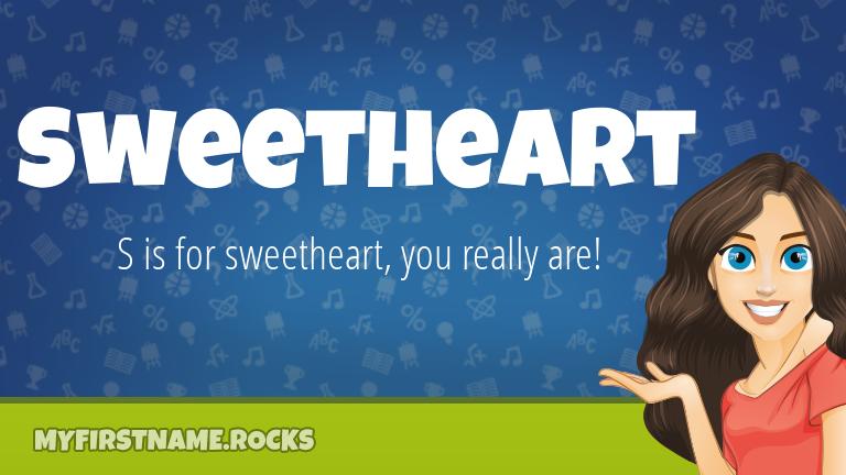 My First Name Sweetheart Rocks!
