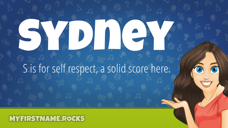 My First Name Sydney Rocks!