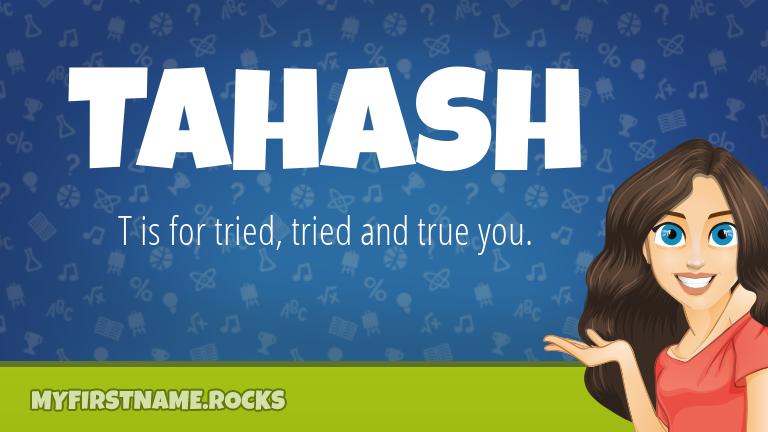 My First Name Tahash Rocks!
