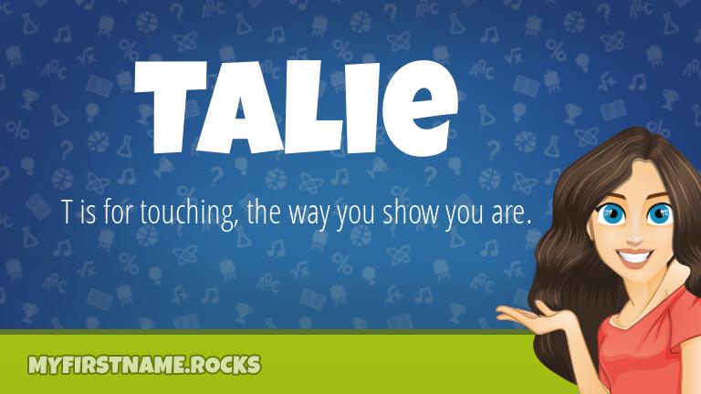 My First Name Talie Rocks!