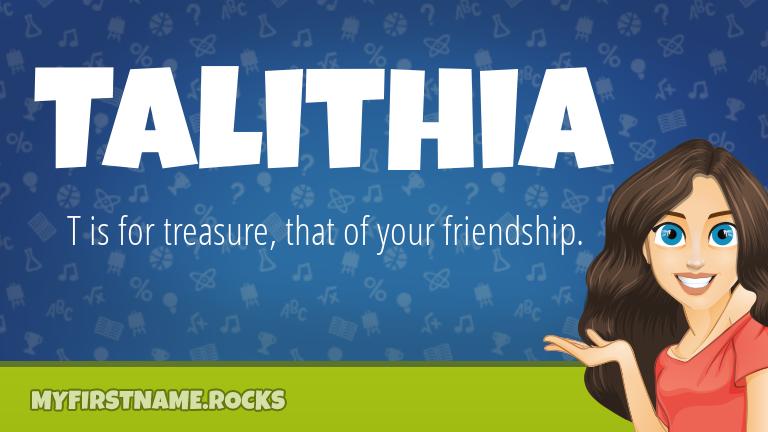 My First Name Talithia Rocks!