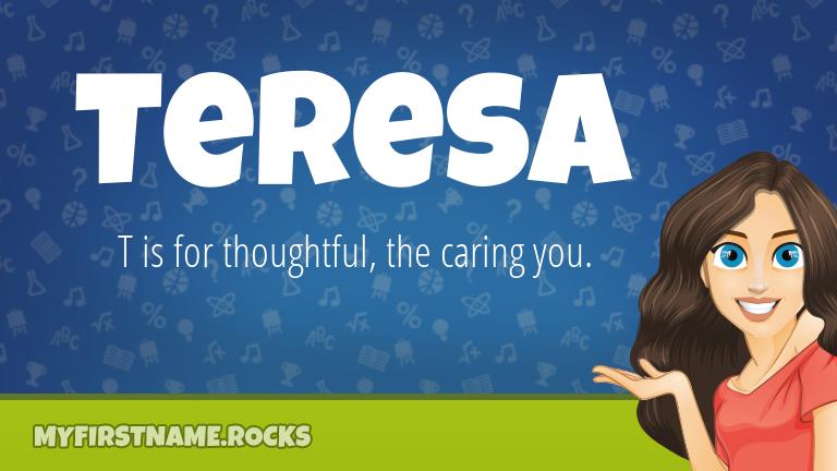 My First Name Teresa Rocks!