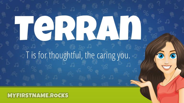My First Name Terran Rocks!