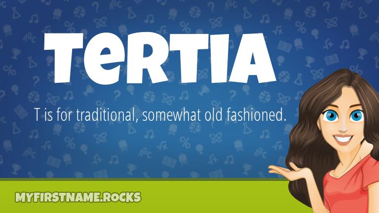 My First Name Tertia Rocks!