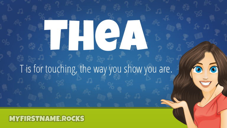 My First Name Thea Rocks!